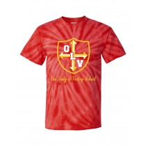 OLV Spirit S/S Tie Dye T-Shirt w/ Gold Logo - Please Allow 2-3 Weeks for Delivery