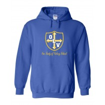 OLV Spirit Pullover Hoodie w/ Gold Logo - Please Allow 2-3 Weeks for Delivery