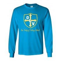OLV  L/S Spirit T-Shirt w/ Gold Logo - Please Allow 2-3 Weeks for Delivery