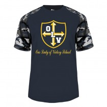 OLV S/S Spirit Camo T-Shirt w/ Gold Logo - Please Allow 2-3 Weeks for Delivery