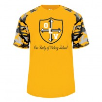 OLV S/S Spirit Camo T-Shirt w/ Navy Logo - Please Allow 2-3 Weeks for Delivery