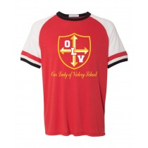 OLV Spirit S/S Vintage T-Shirt w/ Gold Logo - Please Allow 2-3 Weeks for Delivery