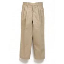 Khaki Pleated Elastic Back Pants