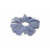 Light Blue Pom Pom Hair Tie
