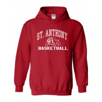 SAS Red Basketball Team Hoodie w/Logo & Name/Number - Please Allow 2-3 Weeks For Delivery