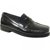 ST. ANN Girls' Black Loafer Shoe