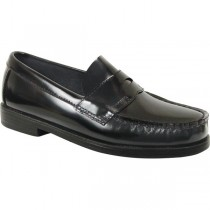 ST. ANN Boys' Black Loafer Shoe
