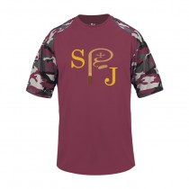 SPJ S/S Camo Spirit T-Shirt w/logo - Please Allow 2-3 Weeks for Delivery
