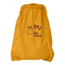 SPJ Owl Pride Cinch Bag w/logo - Please Allow 2-3 Weeks for Delivery