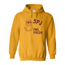 SPJ Owl Pride Spirit Pullover Hoodie w/ Logo - Please Allow 2-3 Weeks for Delivery