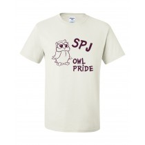 SPJ Owl Pride S/S Spirit T-Shirt w/logo - Please Allow 2-3 Weeks for Delivery