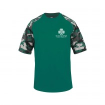 SPS Spirit S/S Camo T-Shirt w/ Left Crest White Logo - Please Allow 2-3 Weeks for Delivery