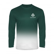 SPS Ombre L/S Spirit T-Shirt w/ Left Crest Logo - Please Allow 2-3 Weeks for Delivery