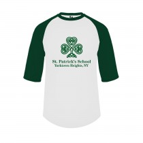 SPS S/S Three Quarter Sleeve Spirit T-Shirt w/ Green Logo - Please Allow 2-3 Weeks for Delivery