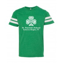 SPS S/S Football Fine Jersey Spirit T-Shirt w/ Full Front Logo - Please Allow 2-3 Weeks for Delivery