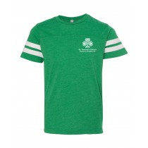 SPS S/S Football Fine Jersey Spirit T-Shirt w/ Left Crest Logo - Please Allow 2-3 Weeks for Delivery