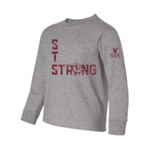 STS Strong L/S Fist Spirit T-Shirt w/ Maroon Logo - Please Allow 2-3 Weeks for Delivery