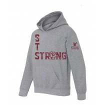 STS Strong Fist Spirit Pullover Hoodie w/ Maroon Logo - Please allow 2-3 Weeks for Delivery