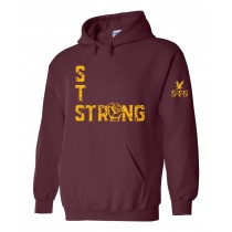 STS Strong Fist Spirit Pullover Hoodie w/ Gold Logo - Please allow 2-3 Weeks for Delivery