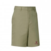 STS Boys' Pull-On Khaki Dress Shorts w/ School Logo (Spring/Fall)