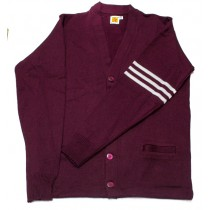 SBS Varsity 2-Pocket Cardigan w/ Logo