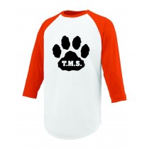 T.M.S Spirit Three Quarter Sleeve Performance T-Shirt w/ Paw Logo* - Please Allow 2-3 Weeks for Delivery