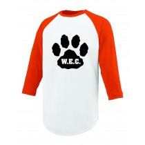 W.E.C. Spirit Three Quarter Sleeve Performance T-Shirt w/ Paw Logo* - Please Allow 2-3 Weeks for Delivery