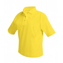 ANN Girls' Plain S/S Yellow Polo (Worn under Jumper Only)