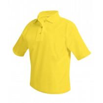 OLPH Yellow, White S/S Polo w/ Logo