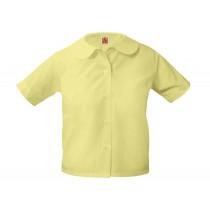 ECM Girls' Yellow S/S Round Collar Blouse