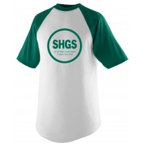 SHGS Spirit S/S Baseball Jersey w/ Kelly Green Logo - Please Allow 2-3 Weeks for Delivery