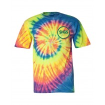 SHGS S/S Tie Dye Spirit T-Shirt w/ Kelly Green Logo - Please Allow 2-3 Weeks for Delivery