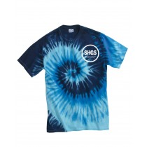 SHGS S/S Blue Tie Dye Spirit T-Shirt w/ Logo - Please Allow 2-3 Weeks for Delivery